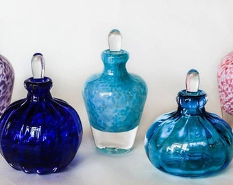 Hand Blown Glass Perfume Bottle