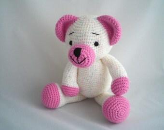 Crochet Teddy Bear / Amigurumi Teddy Bear / Crochet Plush Bear / Plush Teddy / Hand Made Extra Large TeddY / Ultra soft Plush soft toy.