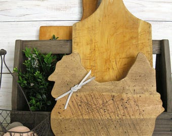 Chicken Cutting Board - Wooden Chicken Cutting Board - Farmhouse Style Decor- Farmhouse Kitchen