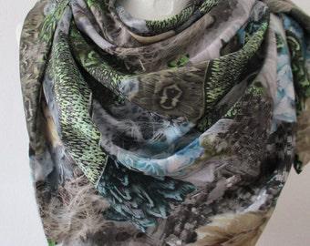 Designer silk - scarf unique