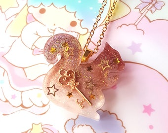 Whimsical Squirrel Necklace - Sweet Lolita Mori Kei Classic Fashion Jewelry