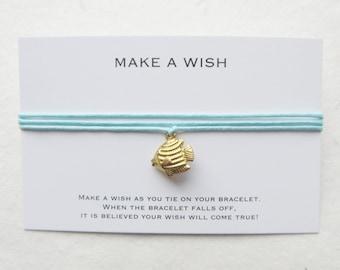 Wish bracelet, turtle bracelet, make a wish bracelet, fish bracelet, W49