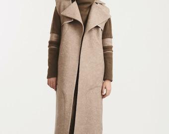 Long Vest, Plus Size Clothing, Gray Coat, Long Wool Vest, Loose Vest, Sleeveless Vest, Maxi Vest, Winter Vest, Women Vest, Wool Vest