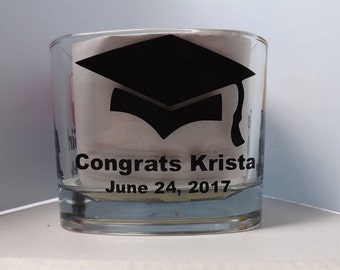 Graduation decal-personalized graduation-Congrats Graduate-Graduation decoration-party supplies-candle jar decals-Congrats Graduate decals
