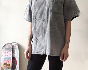 Denim Kimono / Vest / Grey / Jeans / Top