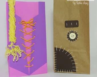 Rapunzel Goodie bag, Flynn Rider Satchel Goodie bag, Tangled favor bag, Rapunzel treat bag, Flynn satchel bag, Tangled party favor