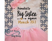 Promoted to Big Sister again Baby Announcement Pregnancy announcement Big Sister Shirt Little Sister Shirt Sibling Shirt Baby Announcement