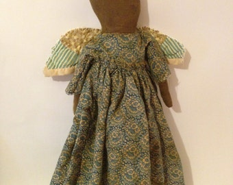 Handmade Primitive Angel Doll~ Folk Art Angel, Early Primitives, Primitive Cloth Doll, Cupboard Angel, Faceless Angel, Primitive Home Decor