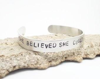 Personalized cuff, engraved bracelet, mantra cuff bracelet, inspirational cuff, custom quote cuff, girl power cuff ,