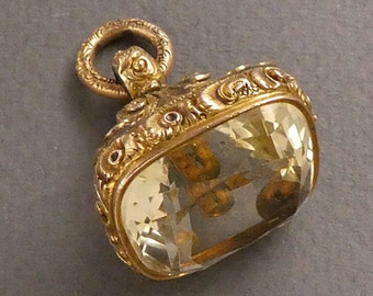 Georgian 10K Citrine seal c 1800