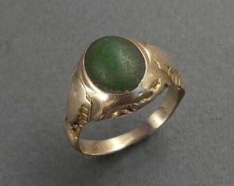 14K Jade Ring size 7.75-8
