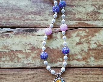 Rapunzel Necklace, Tangled, Disney Princess Necklace, Tangled, Rapunzel, Disney Princess, Princess, Waterproof pendant