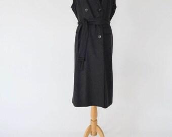 Sleeveless Wool Jacket / Long Vest (Modified Vintage)