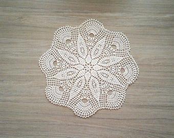 Lace crochet doily, wedding centerpiece, crochet linen doily, lace table decor, linen table centerpiece, linen doily, crochet doily, doilies
