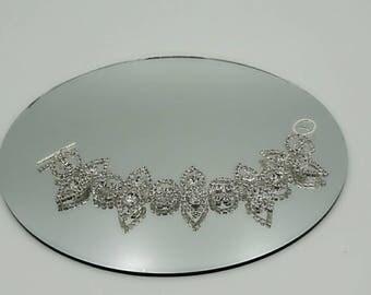 Crystal Bracelet. Cuff Bracelet. Bridal Bracelet.