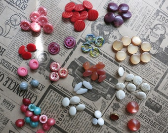 Vintage button, sewing accessories, handmade accessory, craft supply, button set, button mix, button Clasp, unique buttons, round button