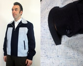 Ricky jacket repro - Two tone - Rockabilly mens - Vintage Fleck wool - Men coat by Oceanfront - L