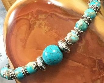 Handmade, Beaded, Bracelet, Turquoise Collection, That Blue