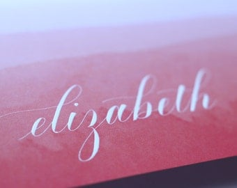 Personalized Calligraphy Cards - Set of 3