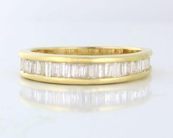 SUPER SALE 1.00tcw Diamond Baguette Band in 14k yellow gold Size 9! DIAR10136