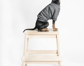 Dog or cat Sweater/ jumper - Dark grey -  Handmade pet clothes - Ideal for dogs, puppies and cats - Keep your pets warm and looking awesome