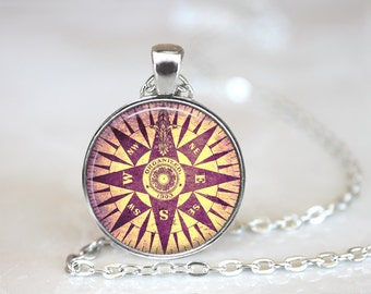 Foreign Exchange Student Necklace Jewelry Keepsake NEWS compass Necklace The Bahamas Jewelry Bahamas Necklace World Travel Compass Keepsake