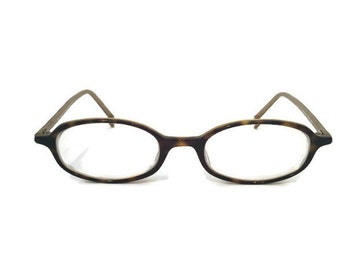 Modo Designer Oval Eyeglass Sunglass Frames Made In Japan Brown Tortoise Lightweight & Elegant