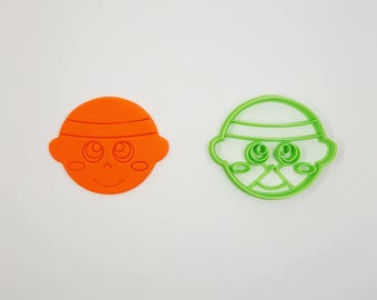 Baby Face Cookie Cutter - 3D Printed - Bakery Cookie Cutter - Baby Cookie Cutter - Custom Cookie - Clay Cutter - Fondant Cutter - FunOrders