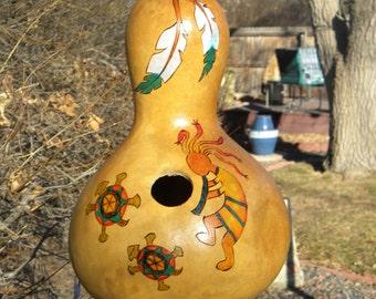 Gourd Birdhouse #13 - Kokopelli