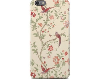 Floral Bird iPhone 6 Case, iPhone 6S Case, iPhone 6 Plus Case, iPhone 5 Case, iPhone 5S Case, iPhone 5C Case, Samsung Galaxy Case S5, S6, S7