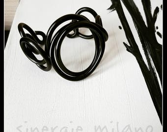 Black Aluminum BRACELET-Black Aluminum jewelry-jewelry-jewelry-contemporary bracelet-summer-night