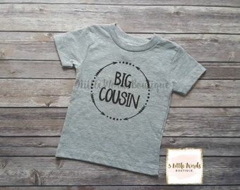 Big Cousin Shirt/Little Cousin Shirt or Onesie Personalized Shirt Cousin Shirt Pregnancy Announcement Baby Announcement Shirt