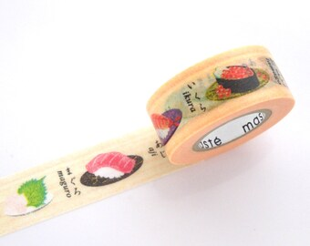 Sushi washi tape, Japanese unique souvenir, Japanese food, Kawaii washi tape, Japanese stationery, Funny gift idea, Gift wrapping tape
