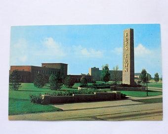 Boys Town Nebraska Postcard / vintage Boys Town Postcard / Nebraska Souvenir