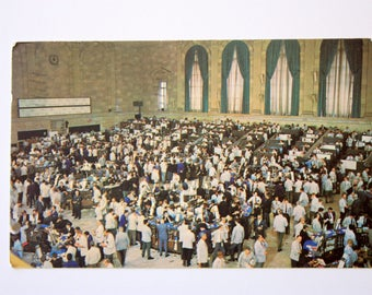 American Stock Exchange  Postcard 1969 / New York City Postcard / vintage NYC Souvenir / Vintage Stock Exchange / Vintage Banking