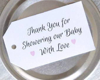Thank You Tags Baby Shower, Baby Girl Shower Favor Tags, Baby Girl, Thank You Tags, Baby Shower, Baby Party, Baptism Favors, Thank You Tags