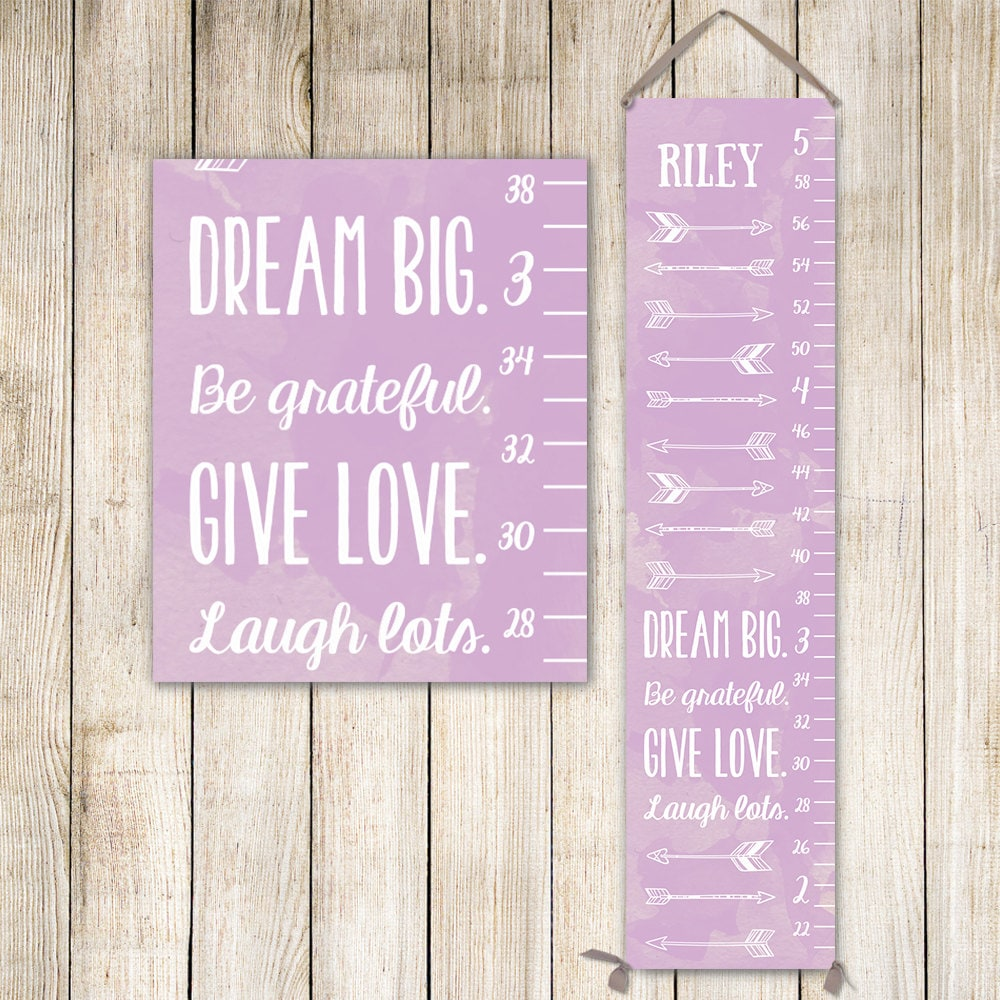 Dream big arrow growth chart personalized canvas growth chart dream big arrow growth chart personalized canvas growth chart arrow nursery decor arrow nursery art grow chart gc0002l nvjuhfo Image collections