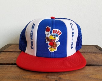 Vintage 1984 Los Angeles Olympics Trucker Hat