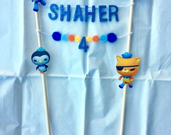 Octonauts / Octonauts party / Octonauts banner / Octonauts cake topper / Octonauts birthday / Octonauts cupcake toppers / birthday candles