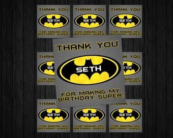 Batman Favor Tags