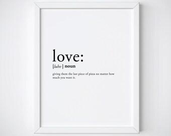 love definition - love print - dictionary print - valentines day print - definition poster - valentines gift - definition print
