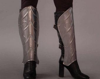 "Leg Armor - Steel Greaves. Armor ""Queen of the Elven"""