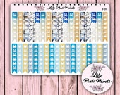 36 Beach Checklist Stickers B-39 - Perfect for Erin Condren Life Planners / Journals / Stickers.