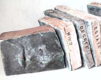 Riddle sculpture, ceramic 3D art riddle, puzzle sculpture, fine art sculpture, bronze patina book shelf decor, booklover gift for nerds