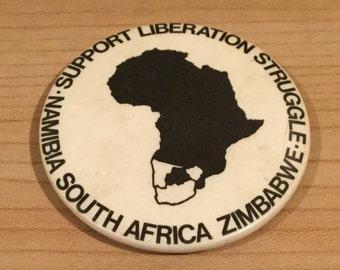 Vintage African Political Badge