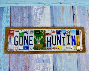 Gone hunting sign etsy for How much is a fishing license in illinois