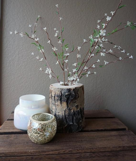 Colorado aspen wood tree vase wedding decor home decor for Aspen logs for decoration