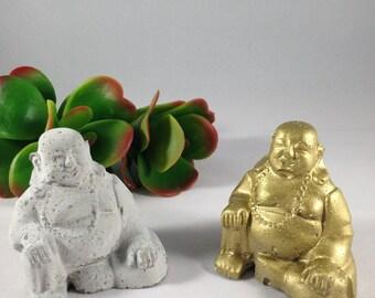 Mini Buddha Statue, Cement Buddha, Happy Buddha, Gold Buddha, Zen Garden