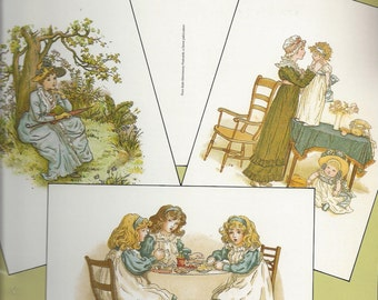 Kate Greenaway Postcards Book with 24 Full-Color Ready-to-Mail Cards