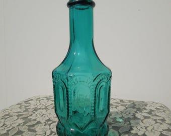 Vintage Collectible Avon Aqua Blue Apothecary Style Decanter (1972)